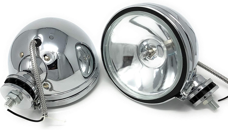 2 X H3 160mm Offroad Zusatz Arbeits Scheinwerfer Chrom Licht Lampe Fernlicht Auto