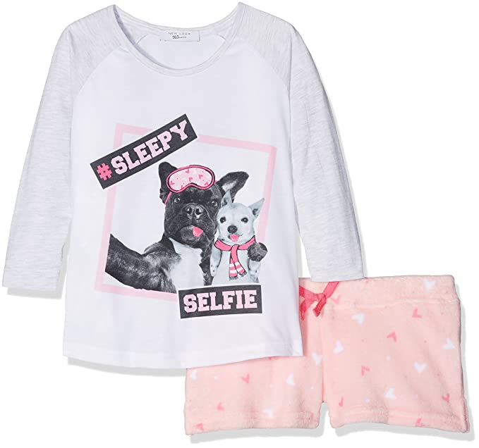 New Look Photo Pug, Conjuntos de Pijama para Niñas, (Pink Pattern),