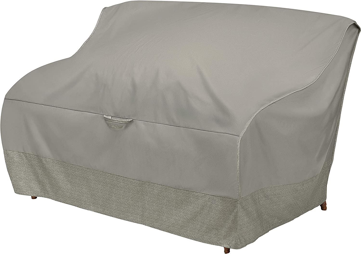 Duck Covers Weekend Water-Resistant 60 Inch Patio Loveseat Cover with Integrated Duck Dome, Moon Rock: Kitchen & Dining