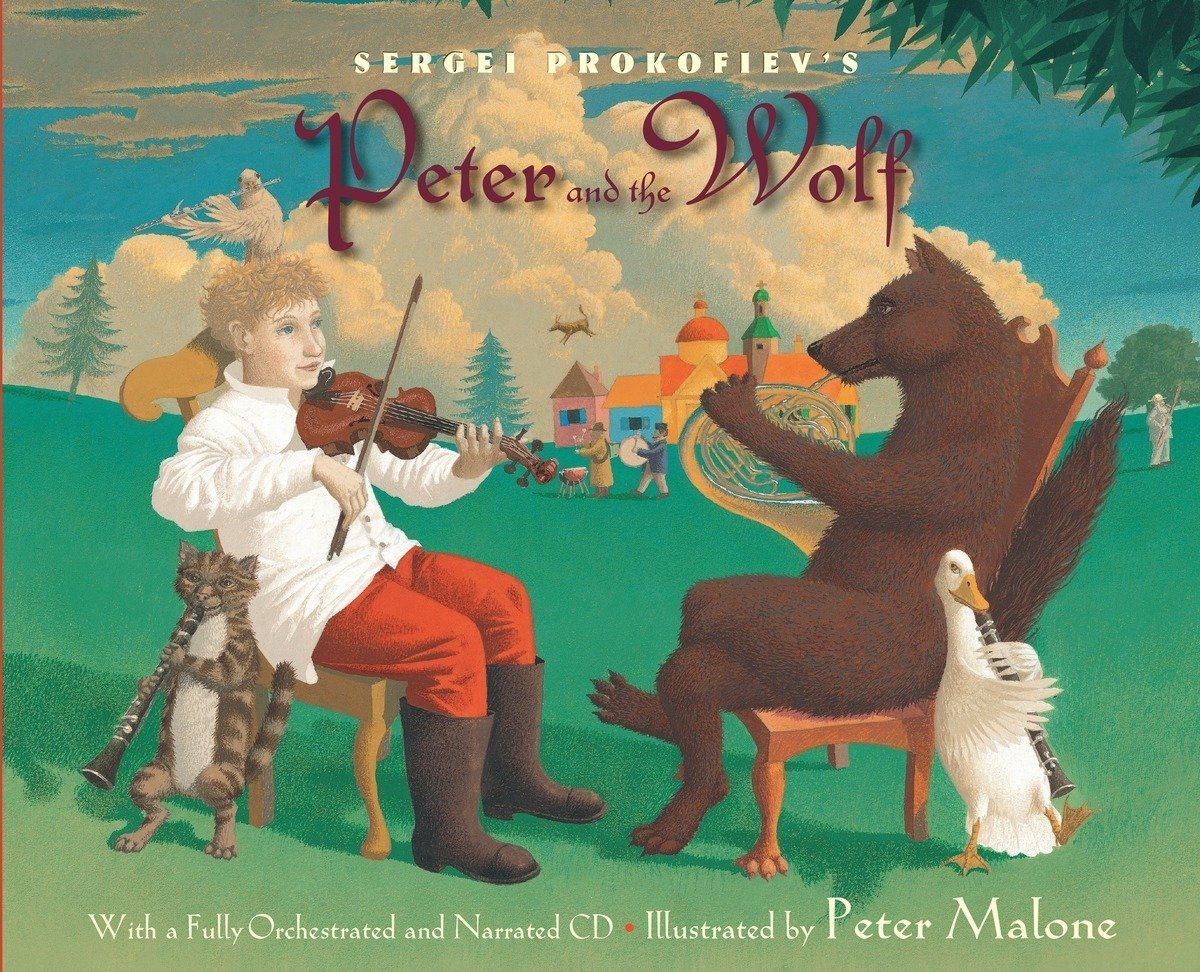 Sergei Prokofiev's Peter and the Wolf: With a Fully-Orchestrated and Narrated CD by Zonderkidz (Image #1)