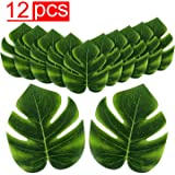 """Super Z Outlet Tropical Imitation Plant Leaves 8"""" Hawaiian Luau Party Jungle Beach Theme Decorations for Birthdays, Prom…"""