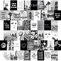 Artivo Black White Wall Collage Kit Aesthetic Pictures 50 Set 4x6, City Chic Wall Decor for Teen Girls, College Dorm…