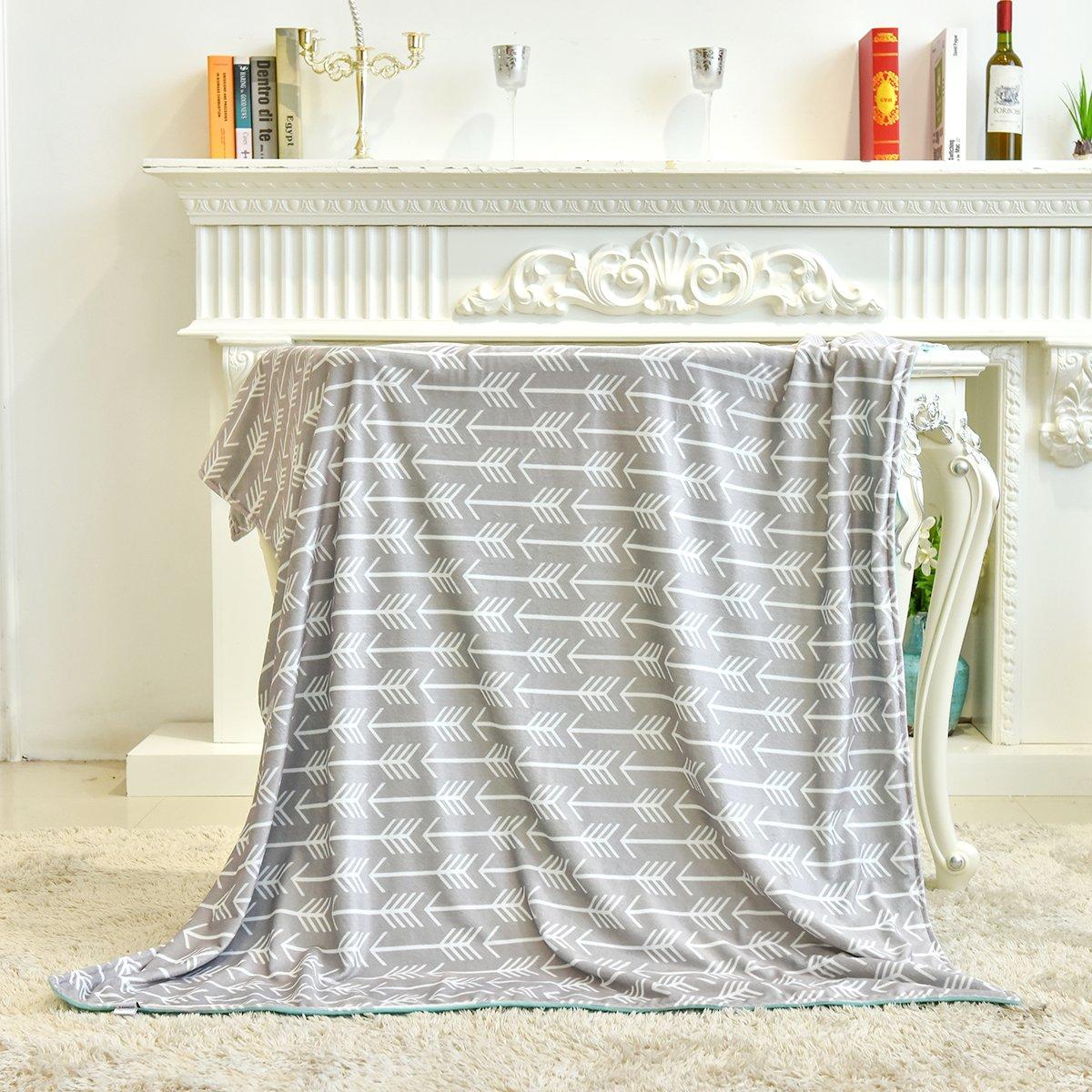Towin Baby Double Layer Minky Throw Blanket/Bed Blanket/Couch Blanket, Mint 50x60 by TOWIN BABY