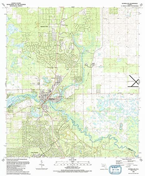 Amazon.com : YellowMaps Dunnellon FL topo map, 1:24000 Scale, 7.5 X on