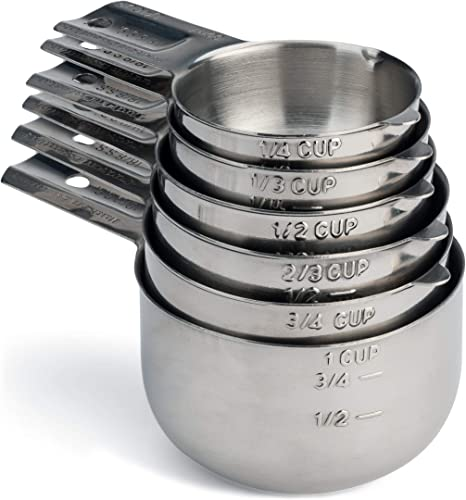 Hudson Essentials Stainless Steel Measuring Cups Set
