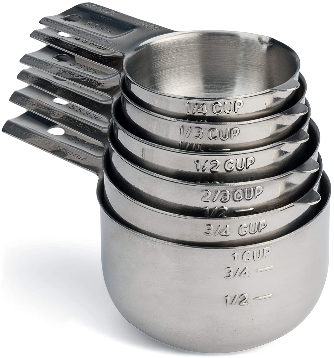 Hudson Essentials Stainless Steel Measuring Cups and Spoons Set (6 Piece Set)