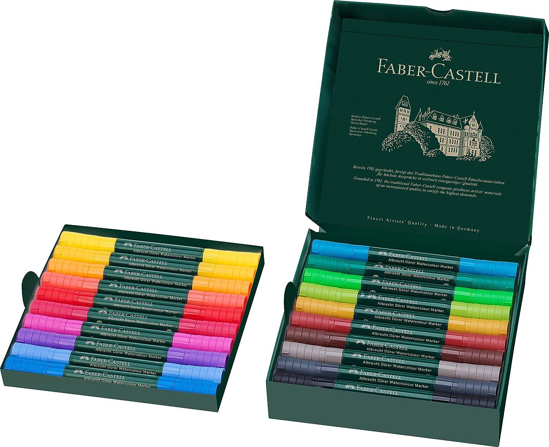 Faber-Castell - 160320 - Estuche 20 marcadores acuarelabless A. Dürer. Color Surtidos: Amazon.es: Oficina y papelería