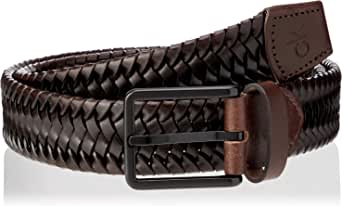 Calvin Klein Braided Fixed Leather Belt Cinturón para Hombre