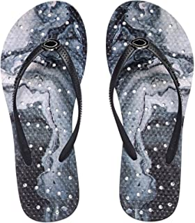 Womens' Antimicrobial Shower & Water Sandals for Pool Beach Dorm and Gym - Geode Accent Collection