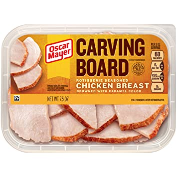 Oscar Mayer Carving Board Rotisserie Chicken Breast 75 Oz Tray