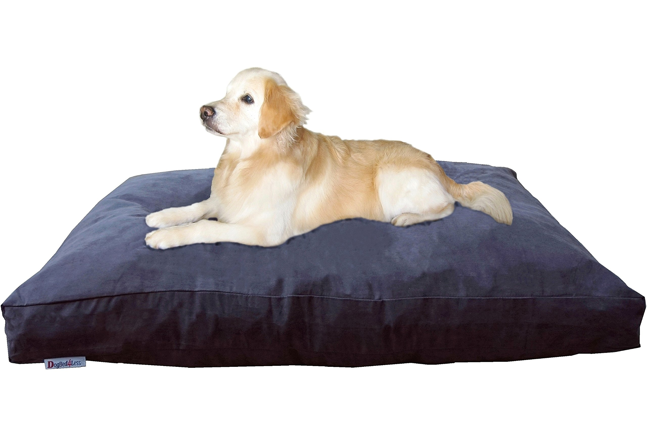 Dogbed4less Jumbo Extra Large Memory Foam Dog Bed Pillow with Waterproof Liner and Microsuede Cover for Big Dog 55X47 Inches, Espresso