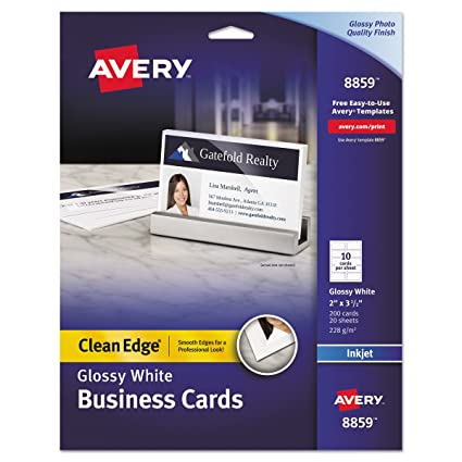 Amazon avery ink jet one side printable clean edge business avery ink jet one side printable clean edge business cards white one accmission Image collections
