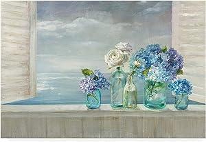 Trademark Fine Art Beautiful Day at The Beach by Danhui NAI, 16x24