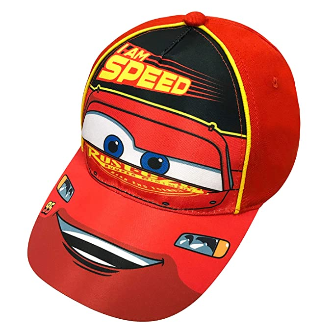 2a8a950ffed Image Unavailable. Image not available for. Color  Disney Pixar Toddler  Boys Cars Lightning McQueen Baseball Cap ...