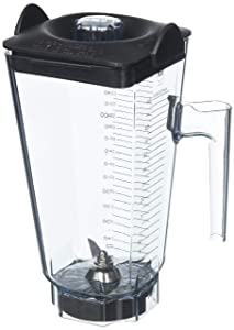 Vitamix 15504 48 oz Commercial NSF Wet Blade and Lid Vita Mix Standard Clear Stackable Container 48oz,