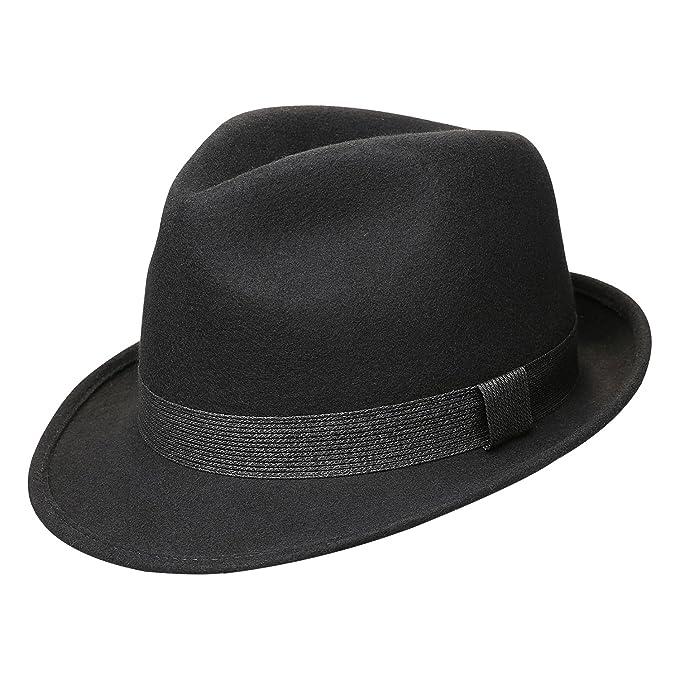 Sedancasesa Cappello Fedora 100% Feltro di Lana Gangster Manhattan Cappelli   Amazon.it  Abbigliamento 0d7db1086034
