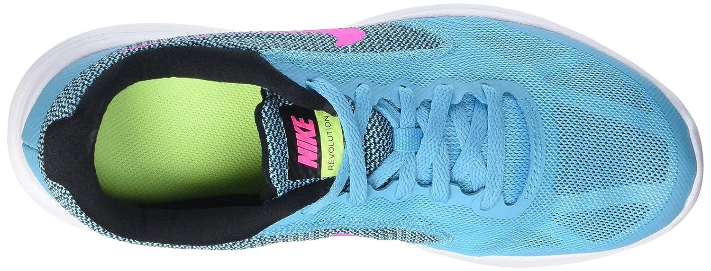 NIKE ' Revolution 3 (GS) Running Shoes B014TMQZEO 7 M US Big Kid|Gamma Blue/Pink Blast/Black/White