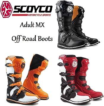 Wulf Mens Motorbike Motocross Boots Trials Off Road Adults Quad Dirt Bike ATV Enduro Motorcycle Sports Boots Rubber Sole Comfortable Black EU 42