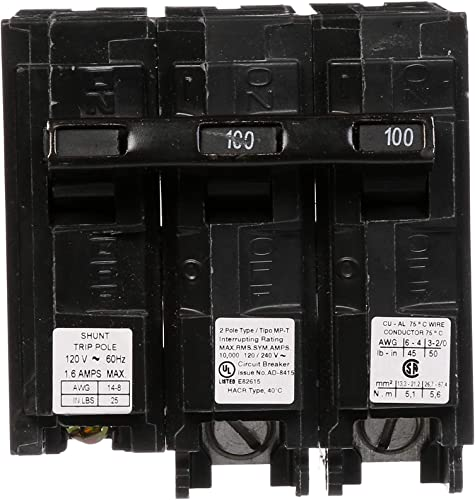 Murray MP2100ST 120 240-Volt type MP-T 100-Amp Circuit Breaker with 120-Volt Shunt Trip Double pole