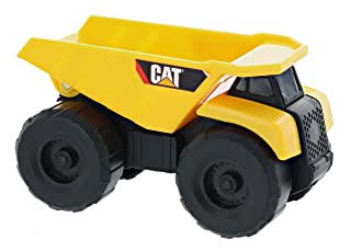 Road Rippers CAT Mini Machine Dual Axle Dump Truck Plastic Model for Children's Construction Simulation and Play (3 Inches)