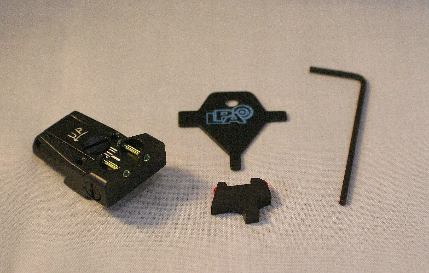 LPA Sight Set, Fully Adjustable Fiber Optic, COLT 80 series TTF80CT by LPA