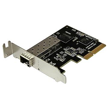 StarTech.com PEX10000SFP - Tarjeta de Red Ethernet PCIe de 10 Gigabits de Fibra con SFP+ Abierto, Adaptador Nic