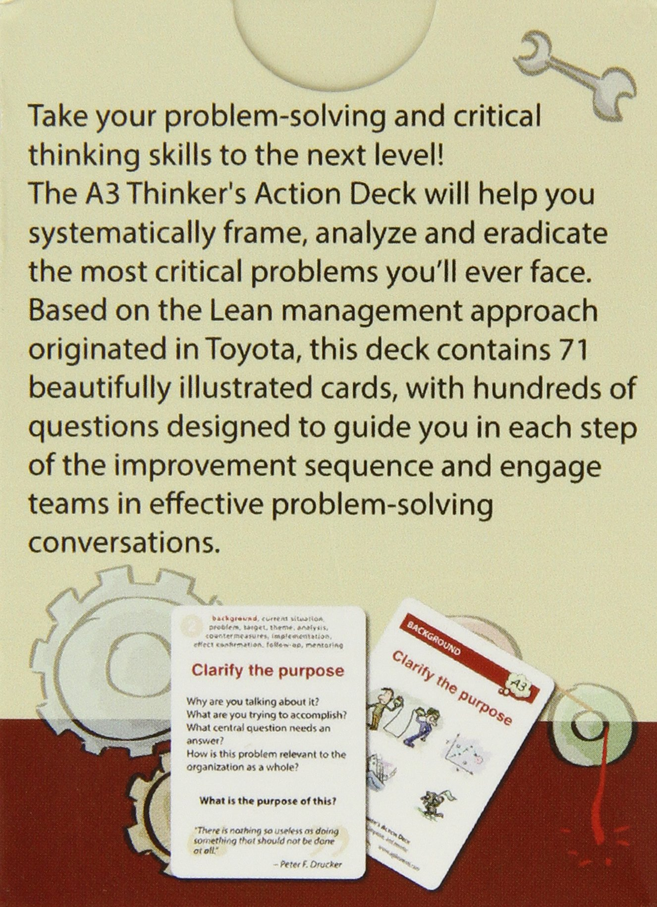 The a3 thinkers action deck 71 brainstorming cards to solve the a3 thinkers action deck 71 brainstorming cards to solve problems improve and mentor claudio perrone 0680569853875 amazon books fandeluxe Image collections