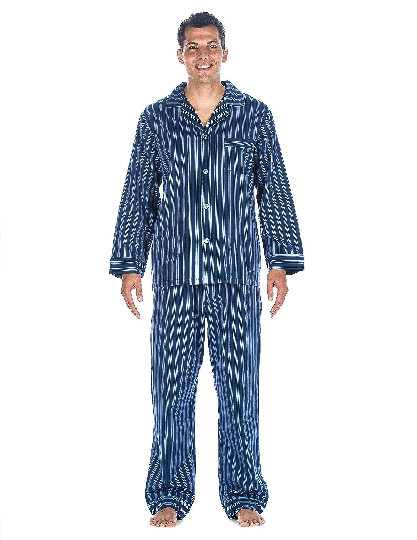 Noble Mount Mens Premium 100% Cotton Woven Pajama Sleepwear Set nmt_mn_pjSet_wctn