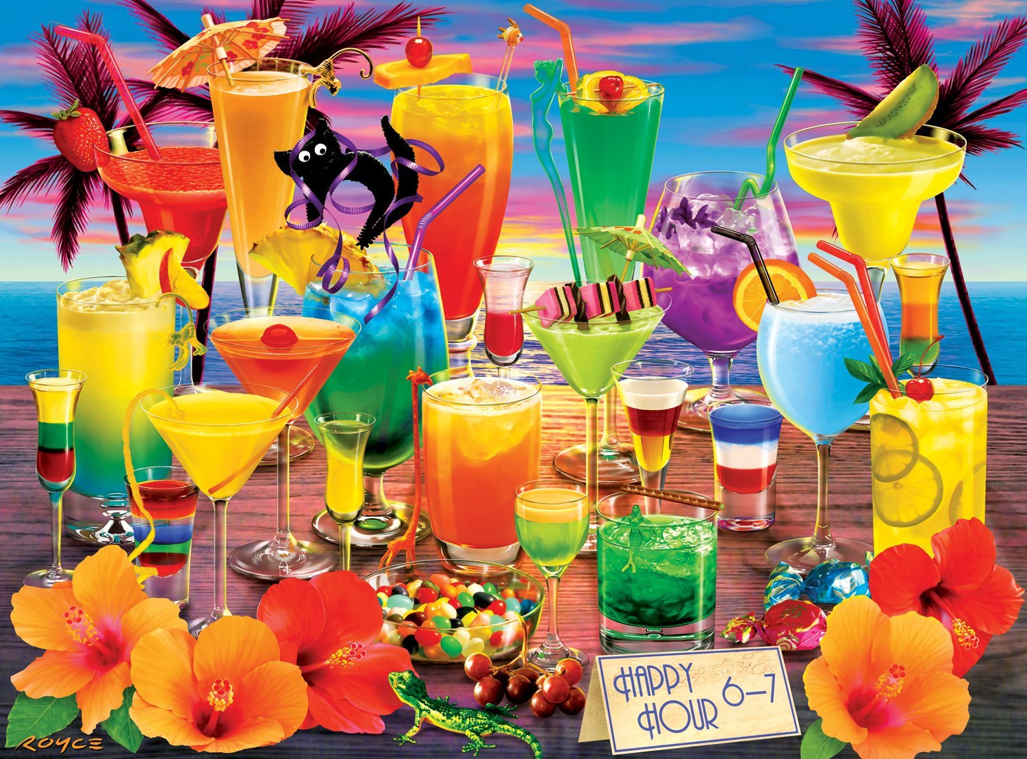 Buffalo Games - Vivid Collection - Happy Hour - 1000 Piece Jigsaw Puzzle