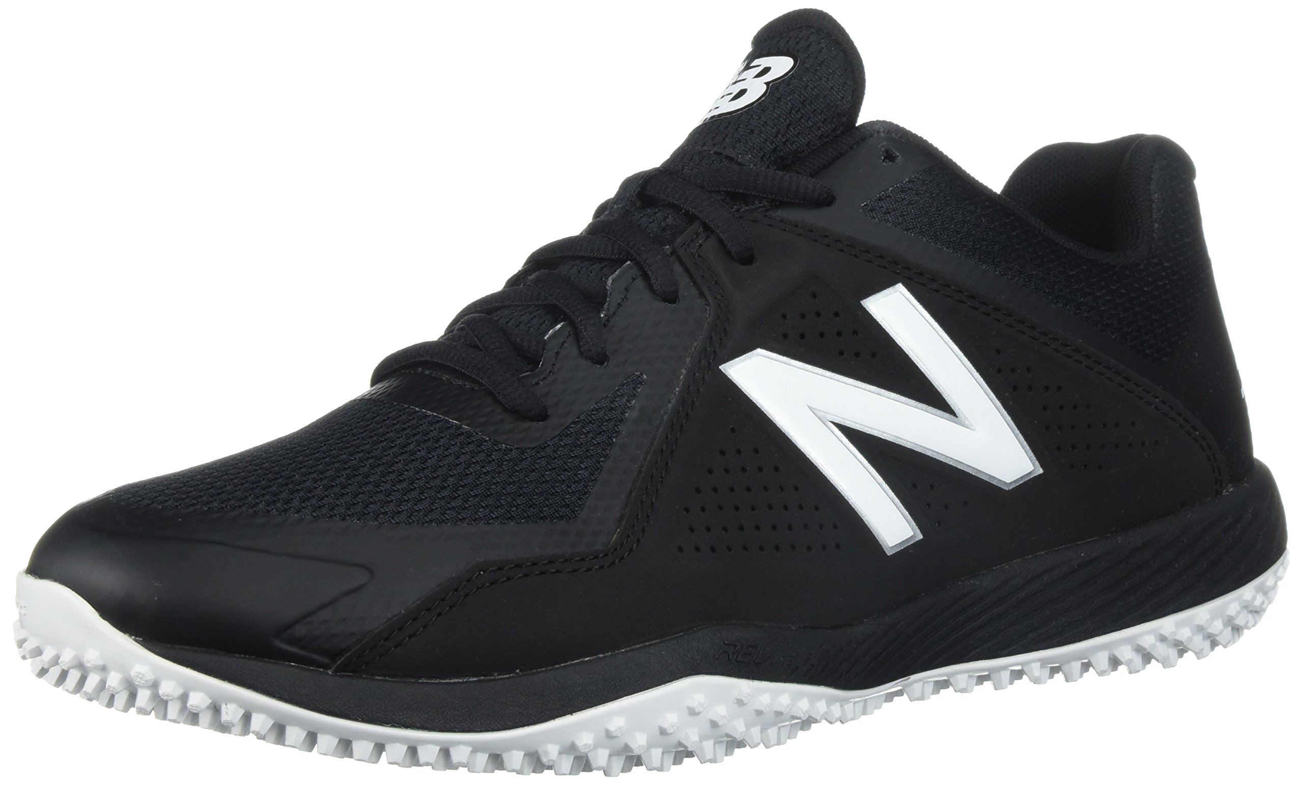 New Balance Men's T4040v4 Turf Baseball Shoe, Black, 12 D US