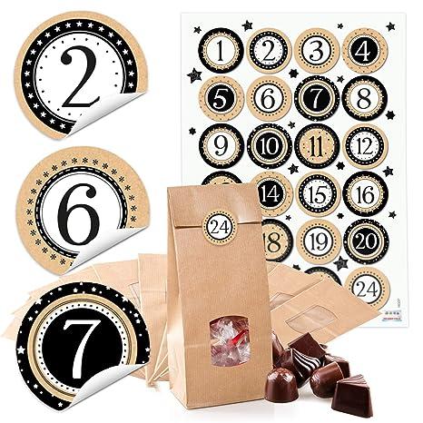 9689f145a 24 Kleine marrón bolsas de papel con ventana suelo y Pergamino 10,5 x 6