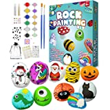 Rock Painting Kit for kids - Art Kit for Painting Rock - Arts and Crafts for Girls & Boys - Supplies for Craft Kits - Hide an