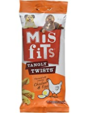 Misfits Tangly Twists Dog Treats with Chicken and Egg, 140 g (Pack of 10)