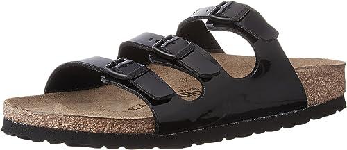 BIRKENSTOCK Florida Damen Pantoletten Weiß Schuhe, Größe:41