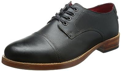 Base London Vanguard Hommes Chaussures en cuir Noir TEXG1