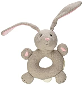 Apple Park Bunny Soft Teething Ring Baby Toy - Hypoallergenic, 100% Organic Cotton