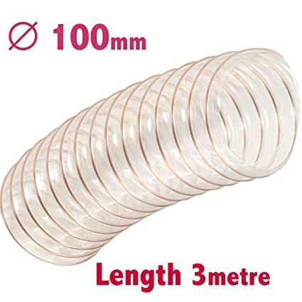 Flexible PVC 3 metres diametre 100 mm pour aspirateur a copeaux