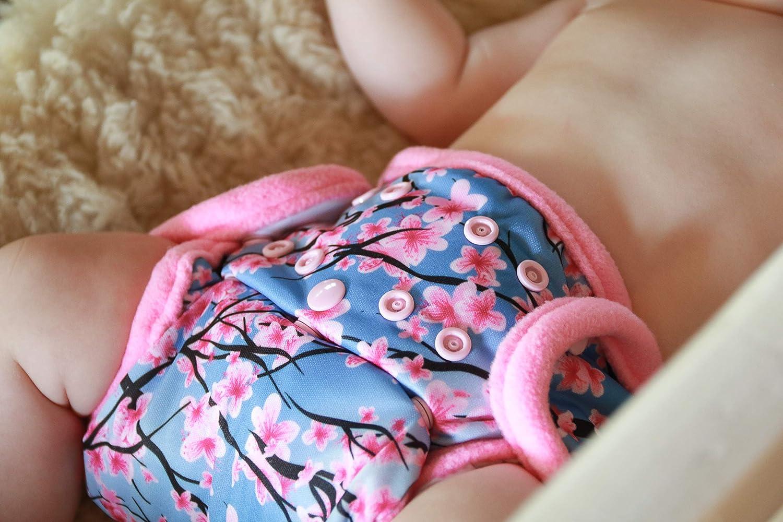 Hergestellt in EU pink One Size SIO Complete Bambus Stoffwindeln Petit Lulu AI2 Komplettwindel 4-15 kg   Druckkn/öpfe Grau Baby Regenbogen SIO Komplett Waschbar /& Wasserdicht