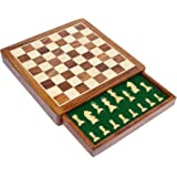 SouvNear Limited Stock - Chess Set 12x12 Magnetic Chess Set Standard Board Game with Chessmen Storage Drawer Handmade in Fine Wood - Non-Folding