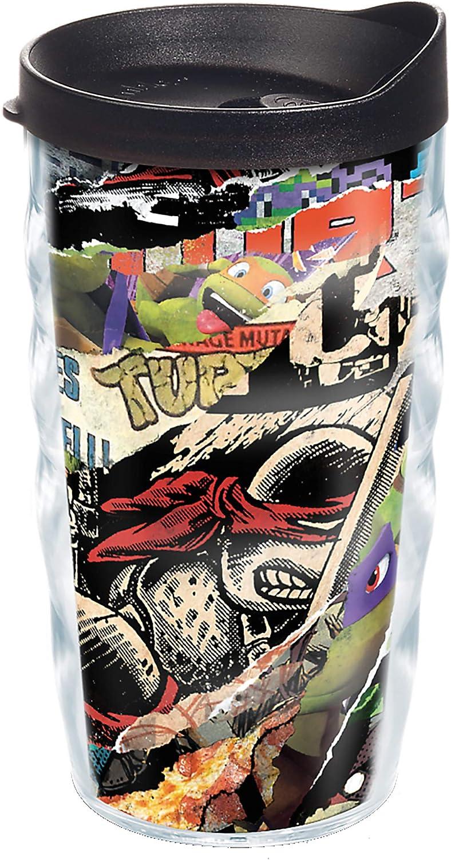 Tervis Nickelodeon - Teenage Mutant Ninja Turtles Collage Insulated Tumbler, 10oz Wavy, Clear - Tritan