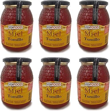 Miel de Tomillo - 6kg - Producida en España - Tradicional & 100% pura - Aroma Floral y Sabor Dulce: Amazon.es: Alimentación y bebidas
