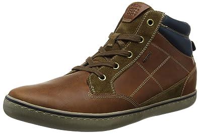 Geox U Box C, Baskets Montantes Homme, Marron (Browncotto/Brown),