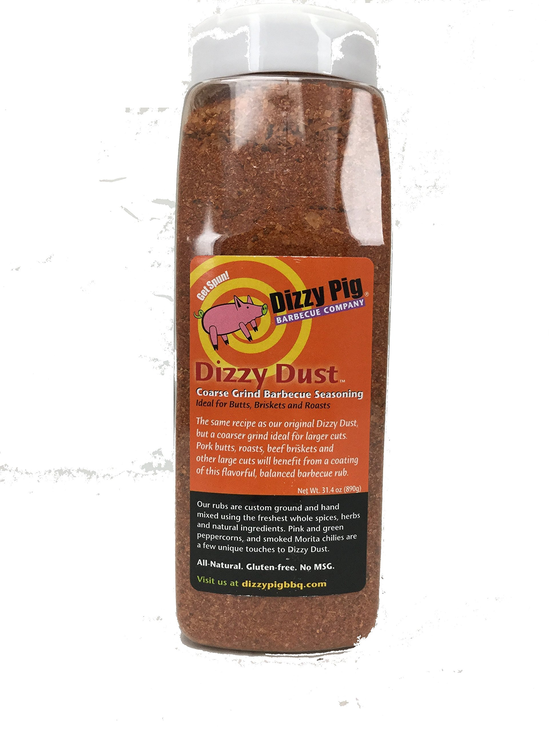 Dizzy Pig Dizzy Dust Coarse BBQ Rub Seasoning Spice - 32 Ounce Quart Shaker Bottle