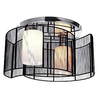 KJLARS Modern Deckenleuchte Deckenlampe Schwarz Metall Leuchtmittel Schlafzimmer Wohnzimmer Bro Pendelleuchte