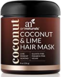 ArtNaturals Coconut and Lime Hair Mask – (8 Fl Oz / 236ml) – Replenishing Hydration – Deep Conditioner For All Hair Types – Sulfate-Free and Vegan – Coconut Oil, Lime, Aloe Vera and Rosehip
