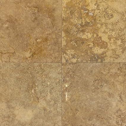 Travertine Gold Tiles X Polished Amazoncom - 16x16 tiles square feet