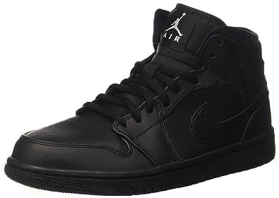 Mid Air Basketballschuhe 1 blackwhite Jordan Schwarz Herren Nike qzxBw