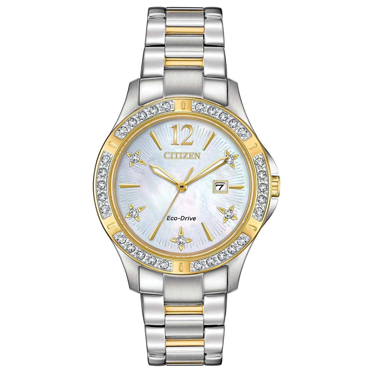 Amazon.com: Citizen Watches Women's EW2514-59D Eco-Drive Two-Tone One Size:  Watches