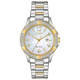 f507174dd77b2c Amazon.com: Citizen Watches Women's EW2514-59D Eco-Drive Two-Tone ...