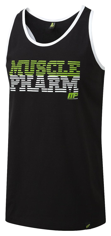 Musclepharm da uomo a strisce logo gilet Muscle Pharm MPVST485